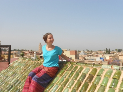 On a rooftop in Marrakesh