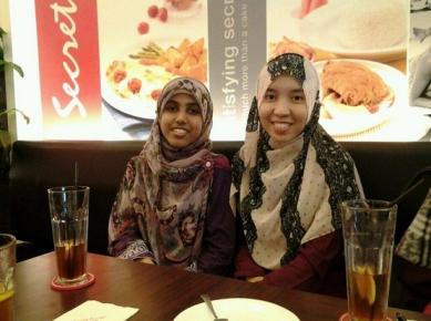 Aziza on the left. Image provided.
