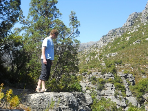 Notoriously photo-shy Ryan at the Bainskloof Pass, 2011.
