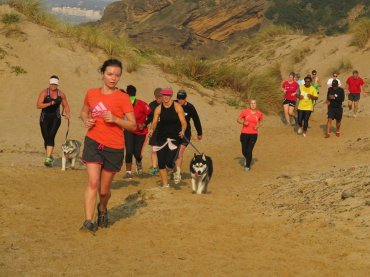 At a recent ParkRun. I'm the red-faced one that looks like she's about to collapse.