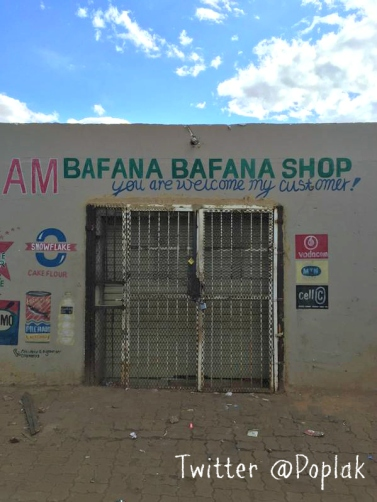 Abandoned Somali shop, Makause, East Rand. By Richard Poplak. Click for link.