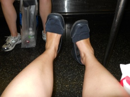 The NYC 2010 shoes. I think I took this picture because I was amazed by my swollen feet.
