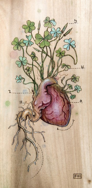 """Clover Heart"" By Fay Helfer"