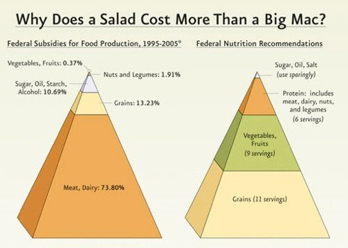 why is a big mac cheaper than a salad